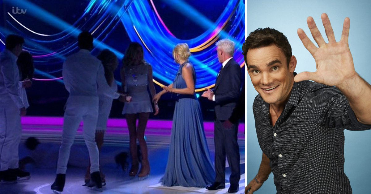 Max falls over on Dancing On Ice
