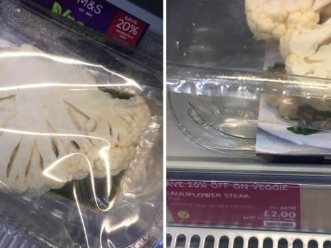 Marks and Spencer is selling sliced cauliflower as 'cauliflower steak' for £2