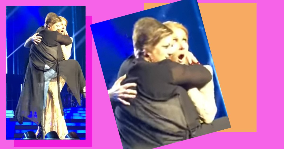 Celine Dion gets humped on stage by a fan and has the classiest reaction ever
