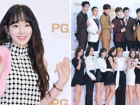 EXO, Taeyeon and TWICE among idols on Golden Disc Awards red carpet