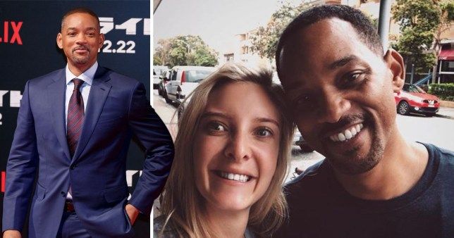 Will Smith casually snapped with fans on Bondi beach