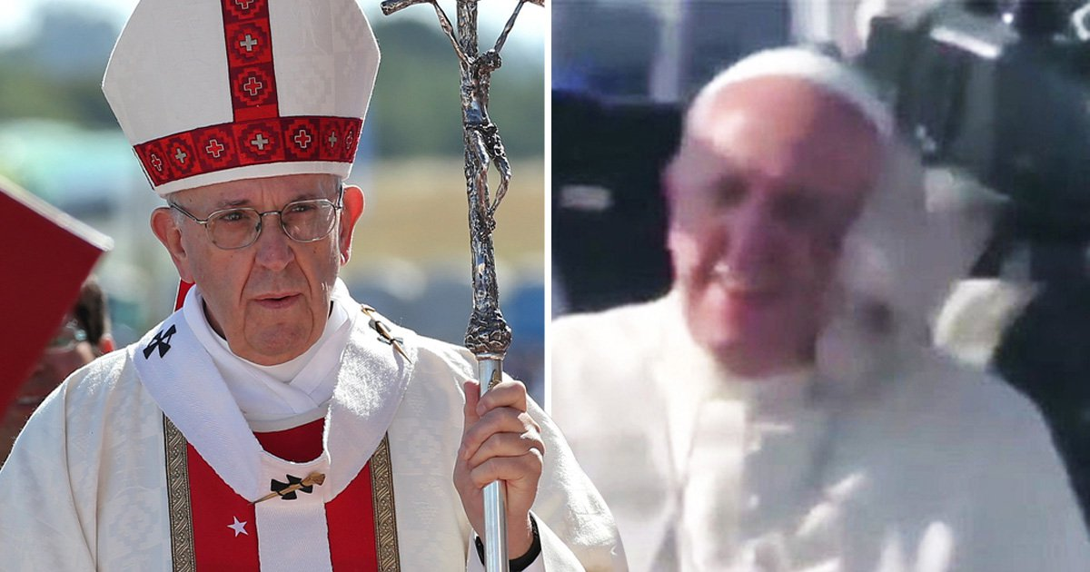 Pope Francis hit by object thrown through popemobile's window
