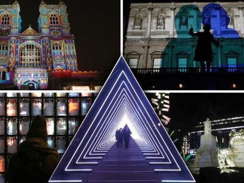 London looks amazing now all the Lumiere light works have been switched on