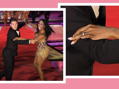 Newly-engaged Alexandra Burke flashes her ring at Strictly tour photocall