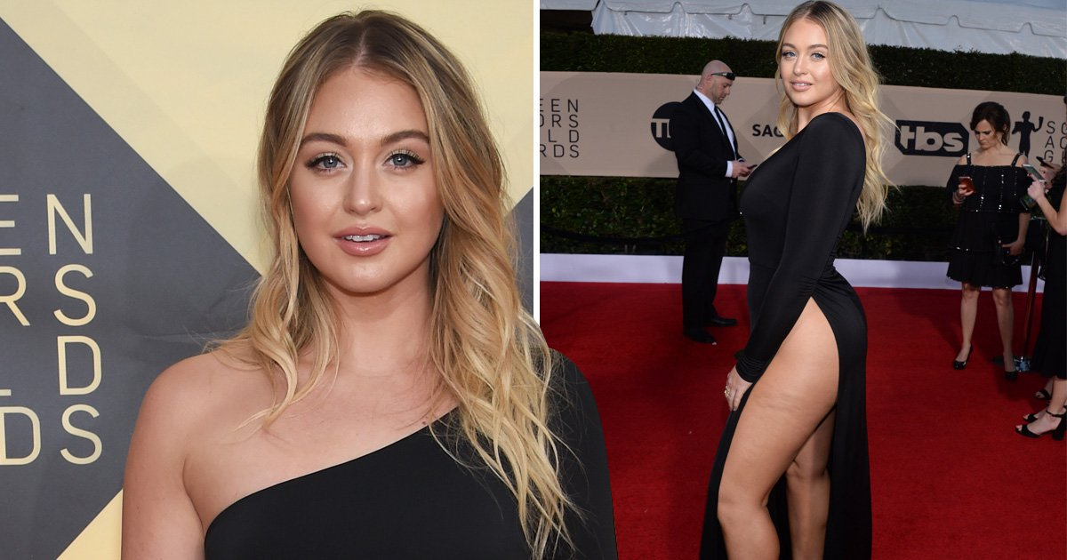 Iskra Lawrence gives Hollywood stars a run for their money at the SAG Awards