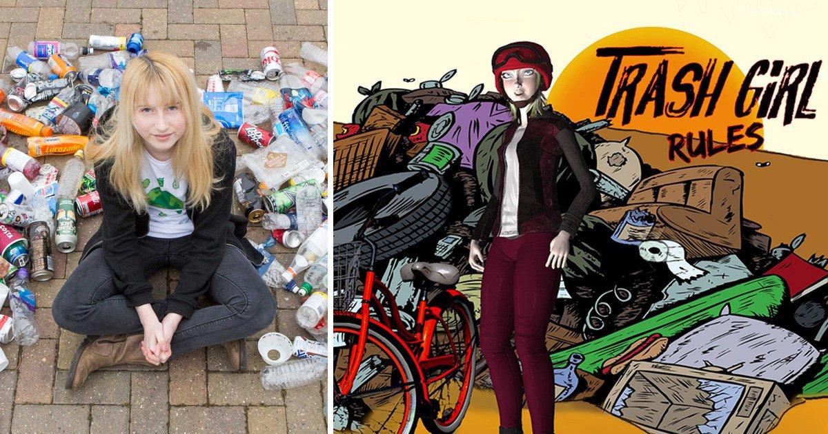 Pupil branded 'trash girl' by bullies immortalised as cartoon superhero
