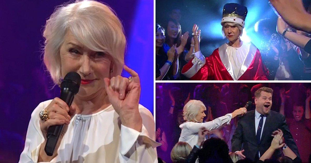 Helen Mirren owns James Corden in rap battle, proves she's truly The Queen