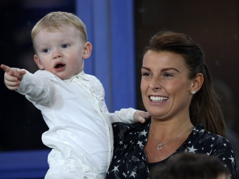 Pregnant Coleen Rooney and sons support Wayne as couple put rocky 2017 behind them