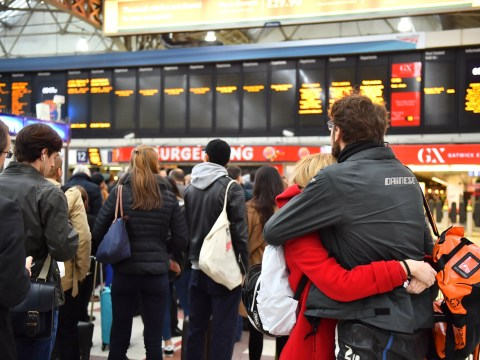 Which trains are on strike and what are the dates of the walk-outs?