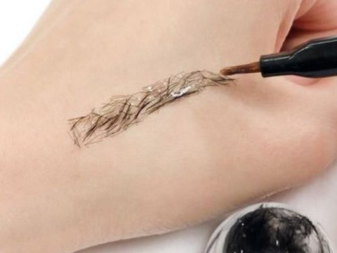 Magical eyebrow thickener lets you paint on eyebrows in a gel