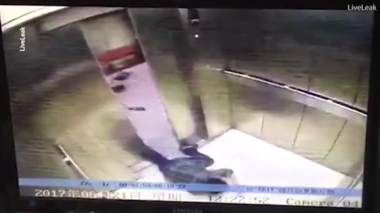 Woman's leg ripped off by lift doors as she was distracted