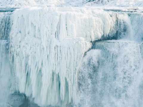 Niagara Falls has 'frozen over' thanks to American weather bomb