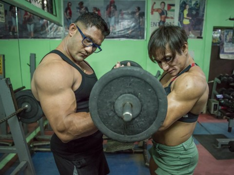 This bodybuilding couple have 28 awards between them