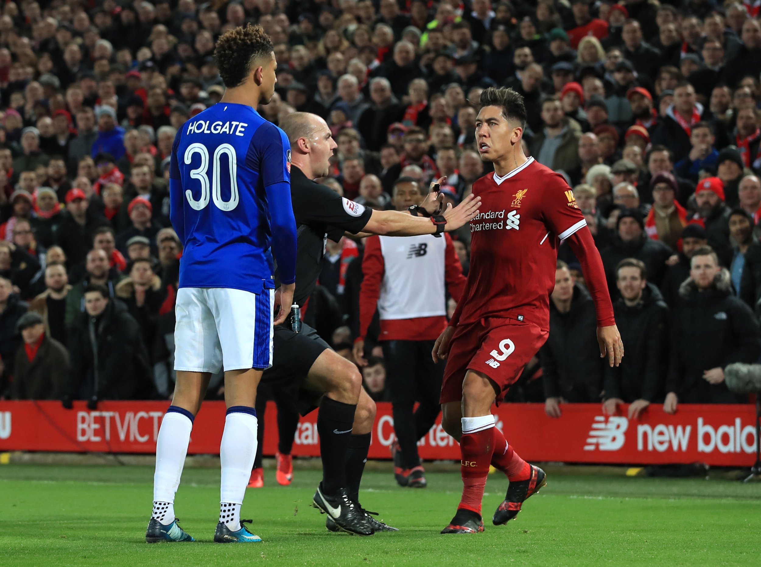 Roberto Firmino to face no charge over alleged racial abuse towards Mason Holgate
