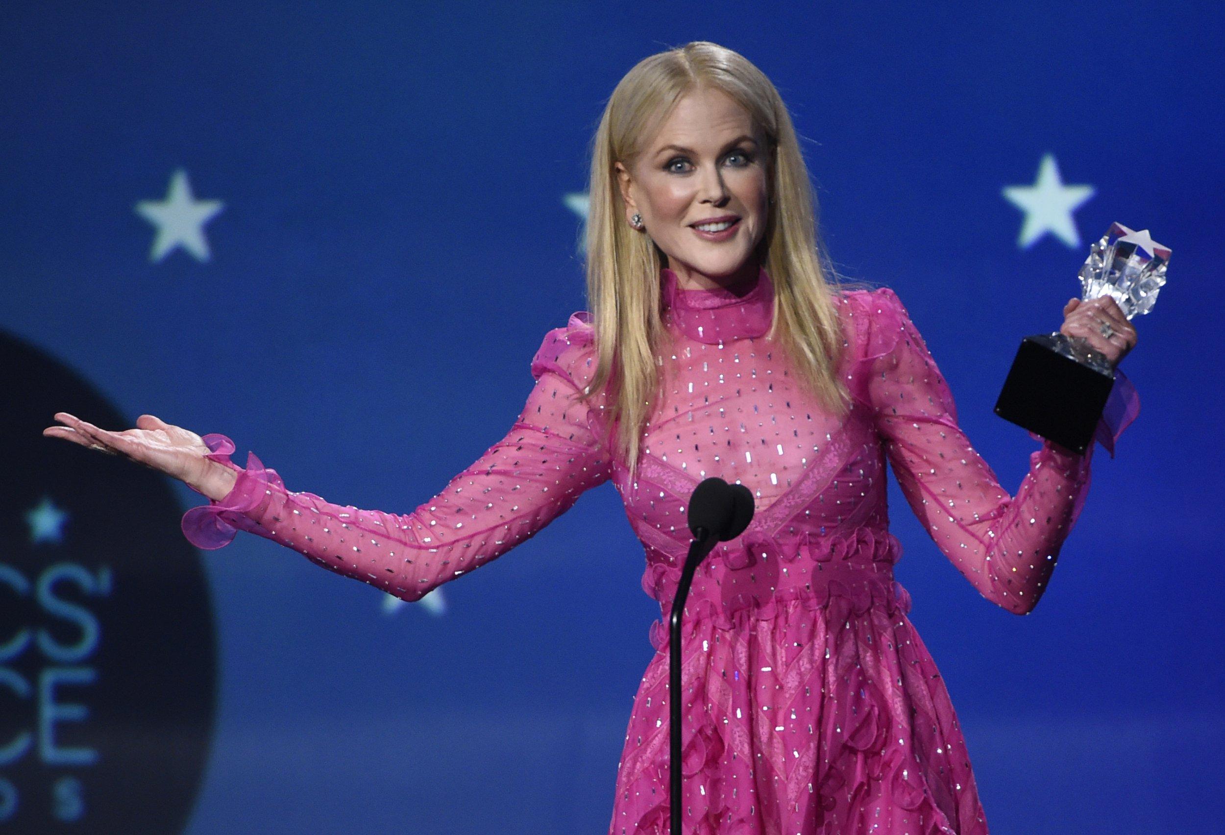 Nicole Kidman wins at Critics Choice Awards