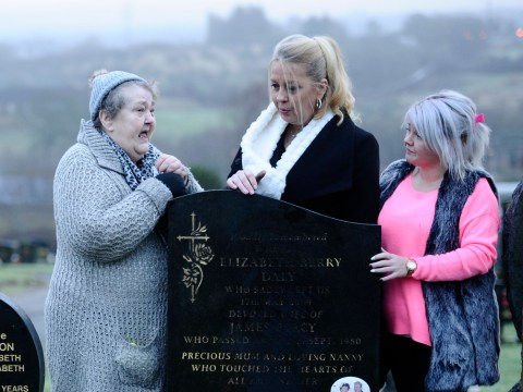 Elderly couple's grave smashed up and torched by vandals