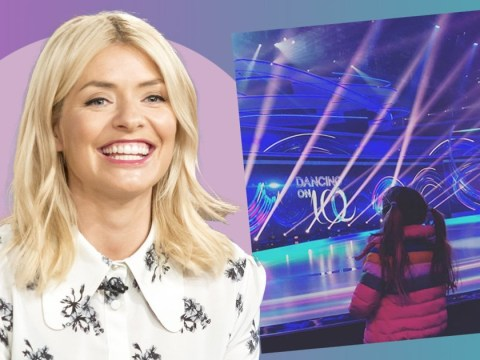 Holly Willoughby reminisces about being pregnant as she takes her daughter to work