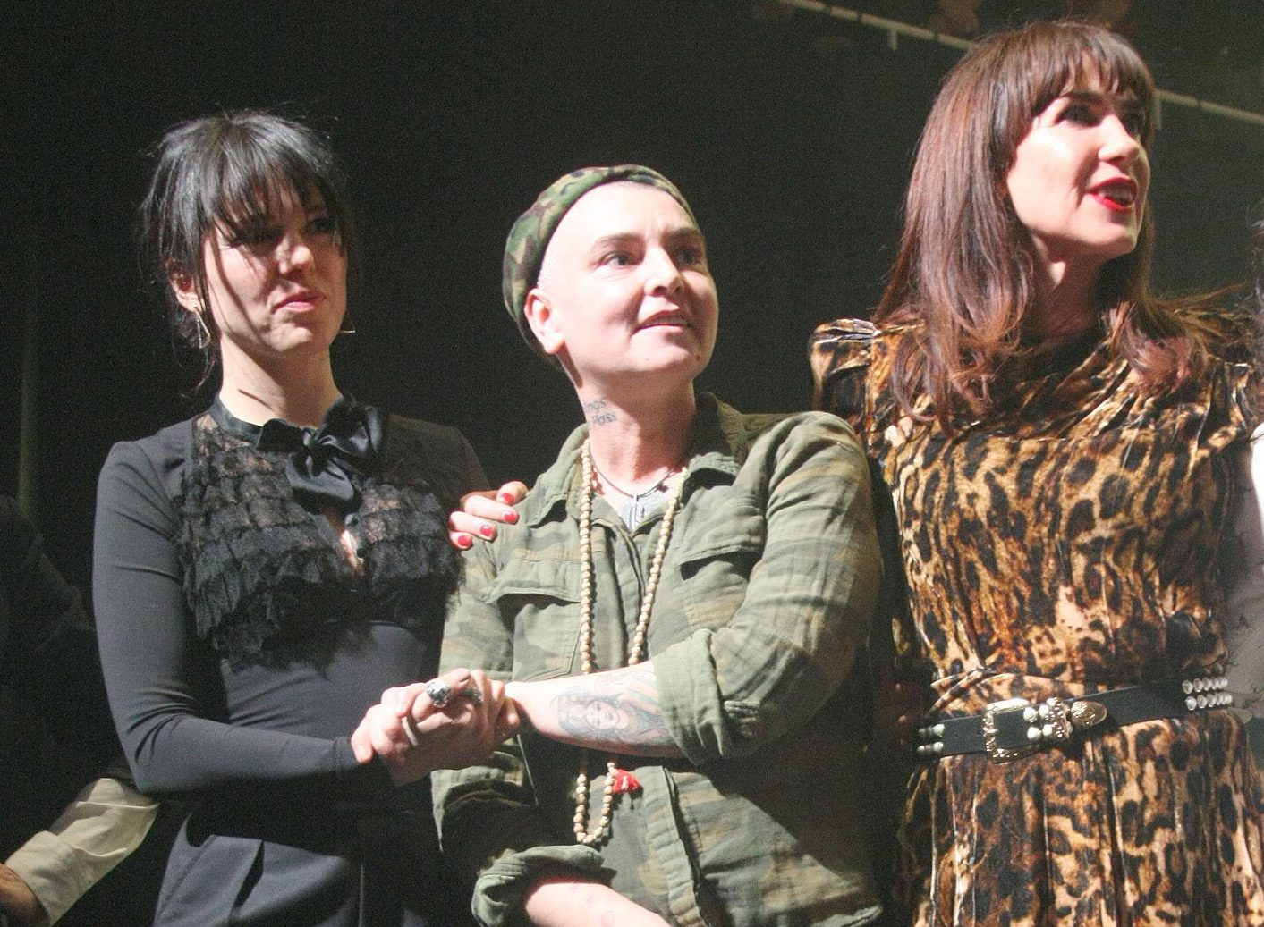 Sinead O'Connor looks happy and healthy as she parties with Johnny Depp and Shane MacGowan