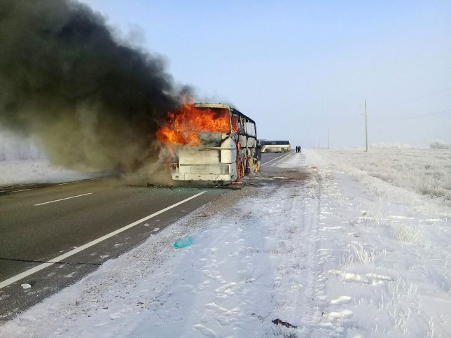 Bus fire kills 52 people