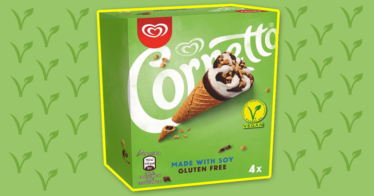 Walls Cornetto vegan cones