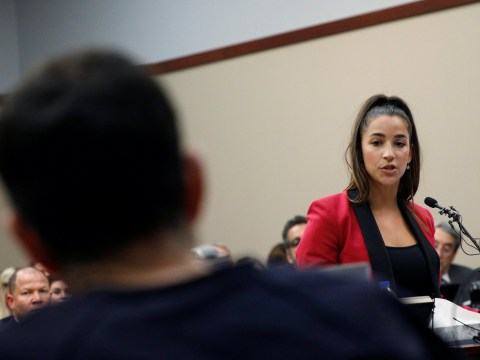 'You are nothing': Aly Raisman stares down sexual abuser Larry Nassar as he's sentenced