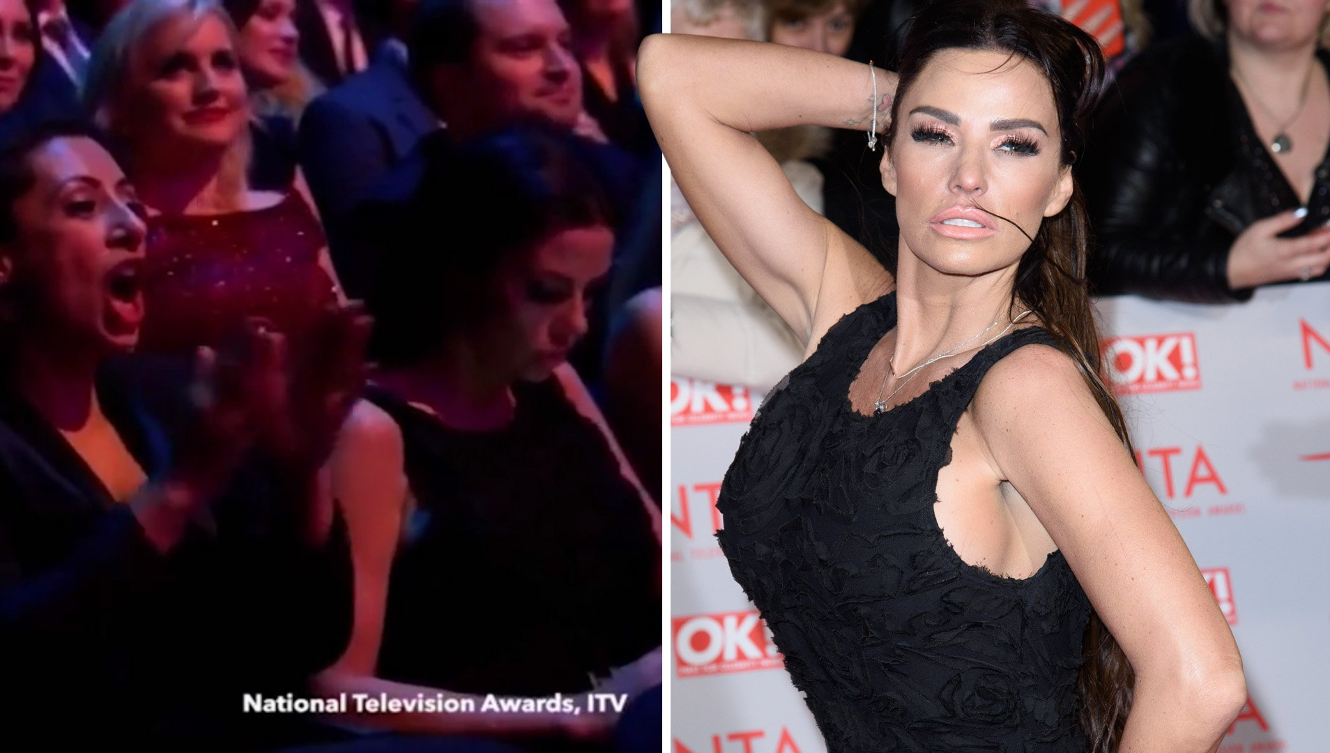 Katie Price caught checking her phone as Loose Women lose out on NTA to This Morning