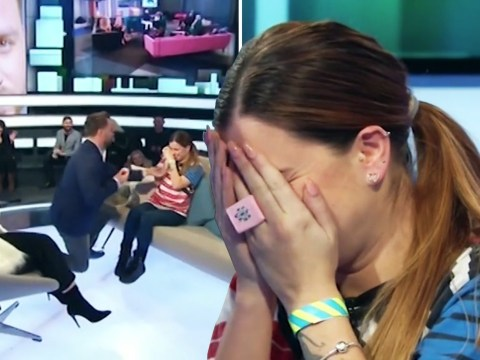 Dapper Laughs proposes to his girlfriend live on air after being evicted from Celebrity Big Brother