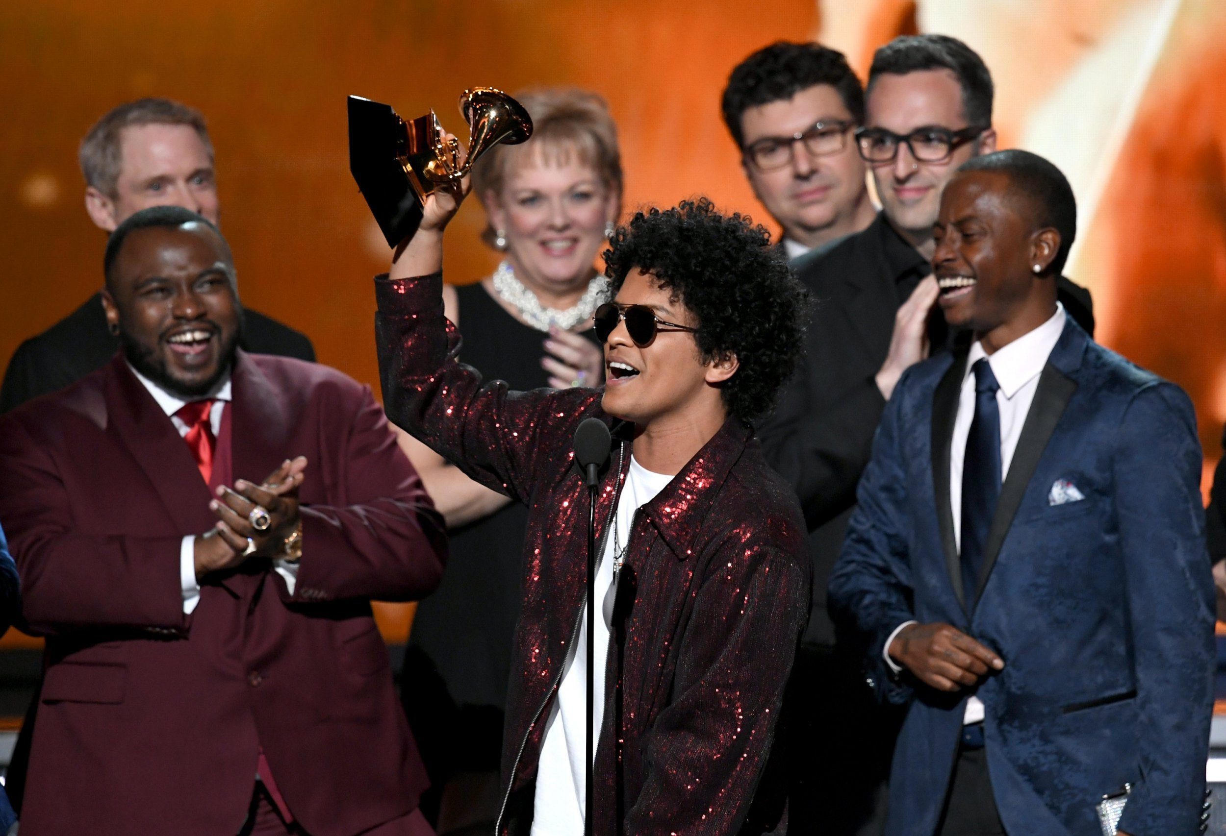 Bruno Mars leads winners with six awards at the Grammys 2018