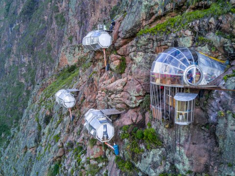 If you're not bothered by heights, stay in these lodges hanging off the side of mountains in Peru