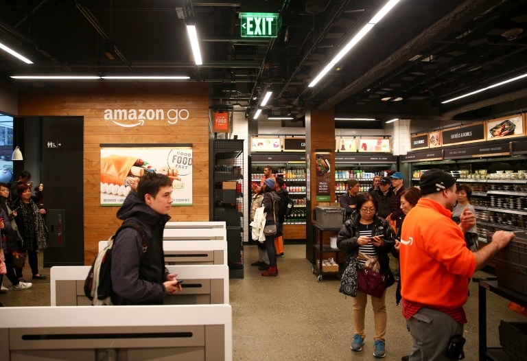 Amazon Go store in Seattle (Picture: Reuters)