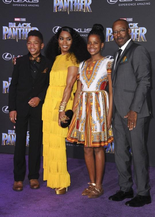 Angela Bassett and family