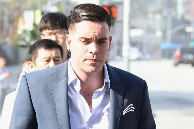Mark Salling at court