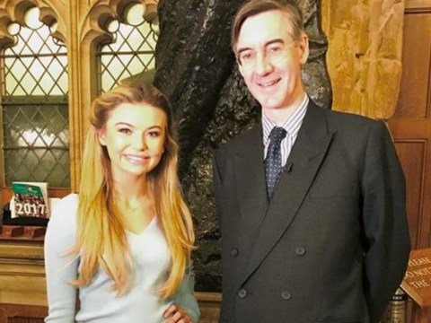 Jungle queen Toff cosies up to 'sex god' Jacob Rees-Mogg as she hits House of Commons