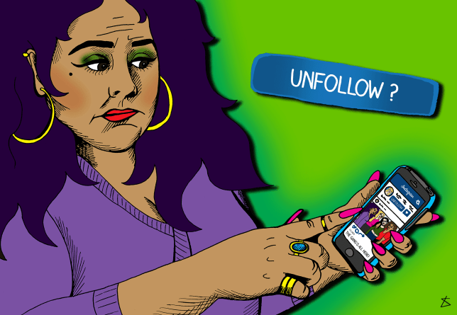 ILLUSTRATION REQUEST: Unfollowing Faux Friends Is The Most Satisfying Thing You'll Do This New Year (Hanna)