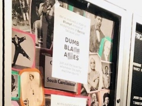 'You stupid m**keys': Racist signs plastered over university campus
