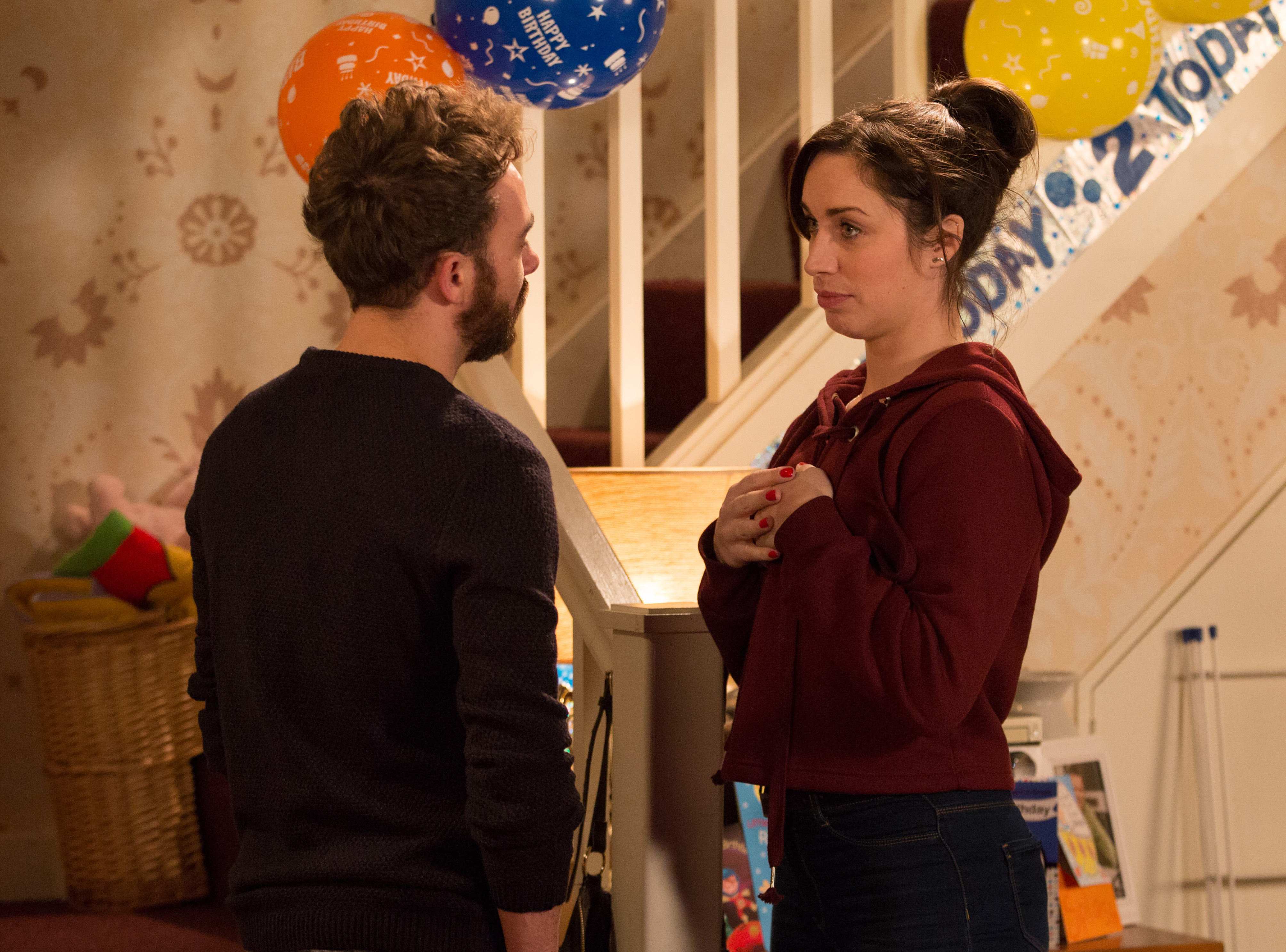 David and Shona fight in Coronation Street