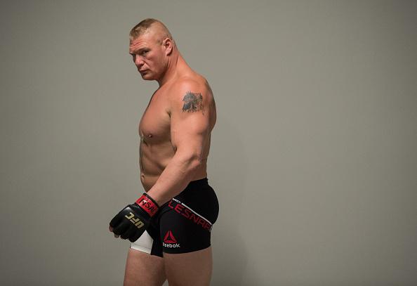 Brock Lesnar backstage