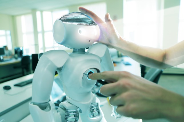robot being worked on