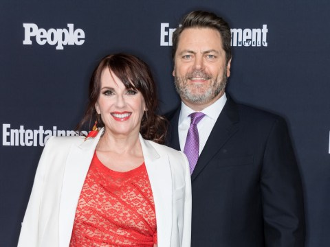 Megan Mullally reveals her secret to staying slim is 'having sex' with husband Nick Offerman