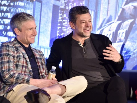 Martin Freeman and Andy Serkis talk about being only white guys on Black Panther set