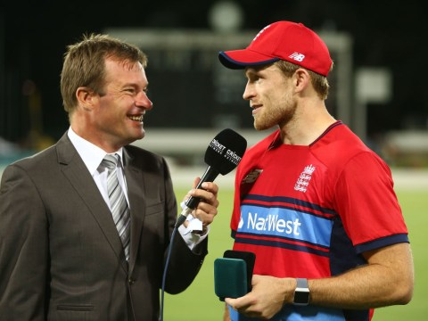 David Willey hits Australia spinner Nathan Lyon for 34 off one over in England Twenty20 warm-up win