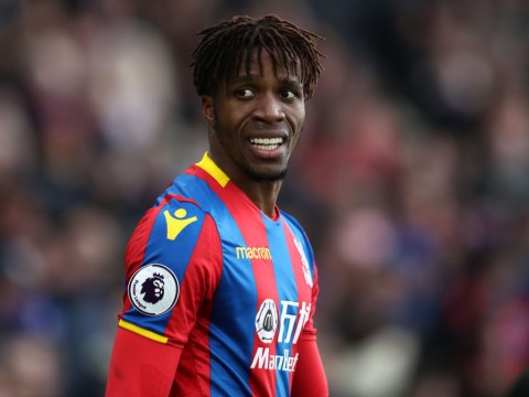 Crystal Palace fear Wilfried Zaha could miss two months with knee ligament damage