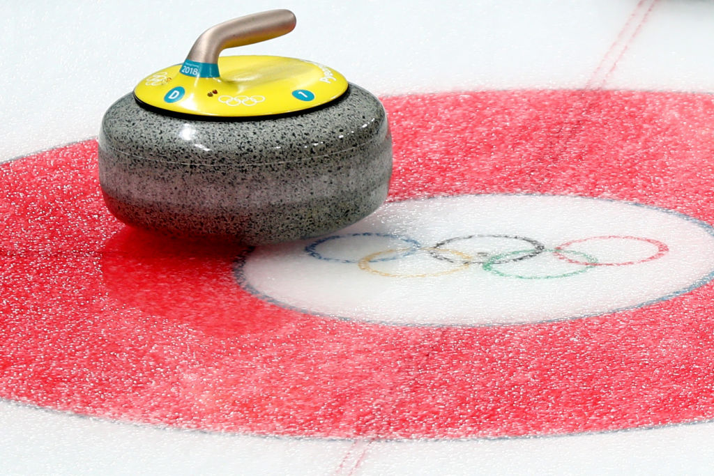 Where was curling invented, when did it join the Winter Olympics and how long is a curling rink?