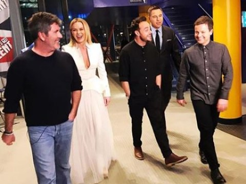 Amanda Holden brushes off Ant McPartlin 'row' with Instagram post of BGT gang