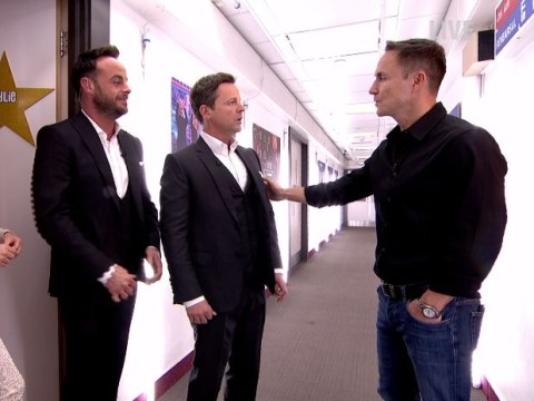 Ant and Dec revive Dennis Wise 'small man' gag with Kylie Minogue on Saturday Night Takeaway