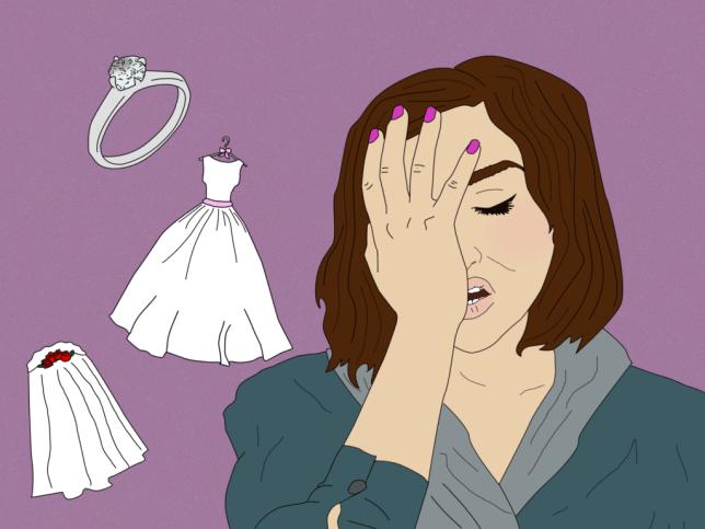 Image of woman and wedding dress