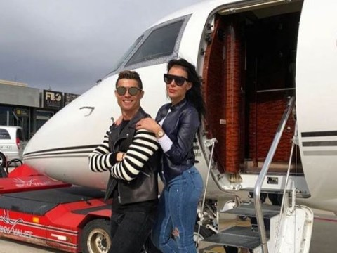 Cristiano Ronaldo whisks girlfriend away on private jet after Rhian Sugden text scandal