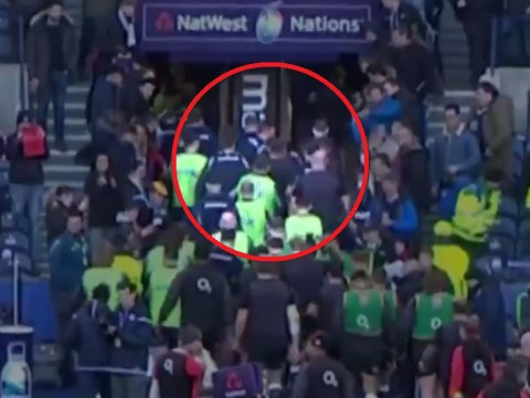Owen Farrell involved in scuffle in tunnel as Scotland end England's Grand Slam hopes with famous victory
