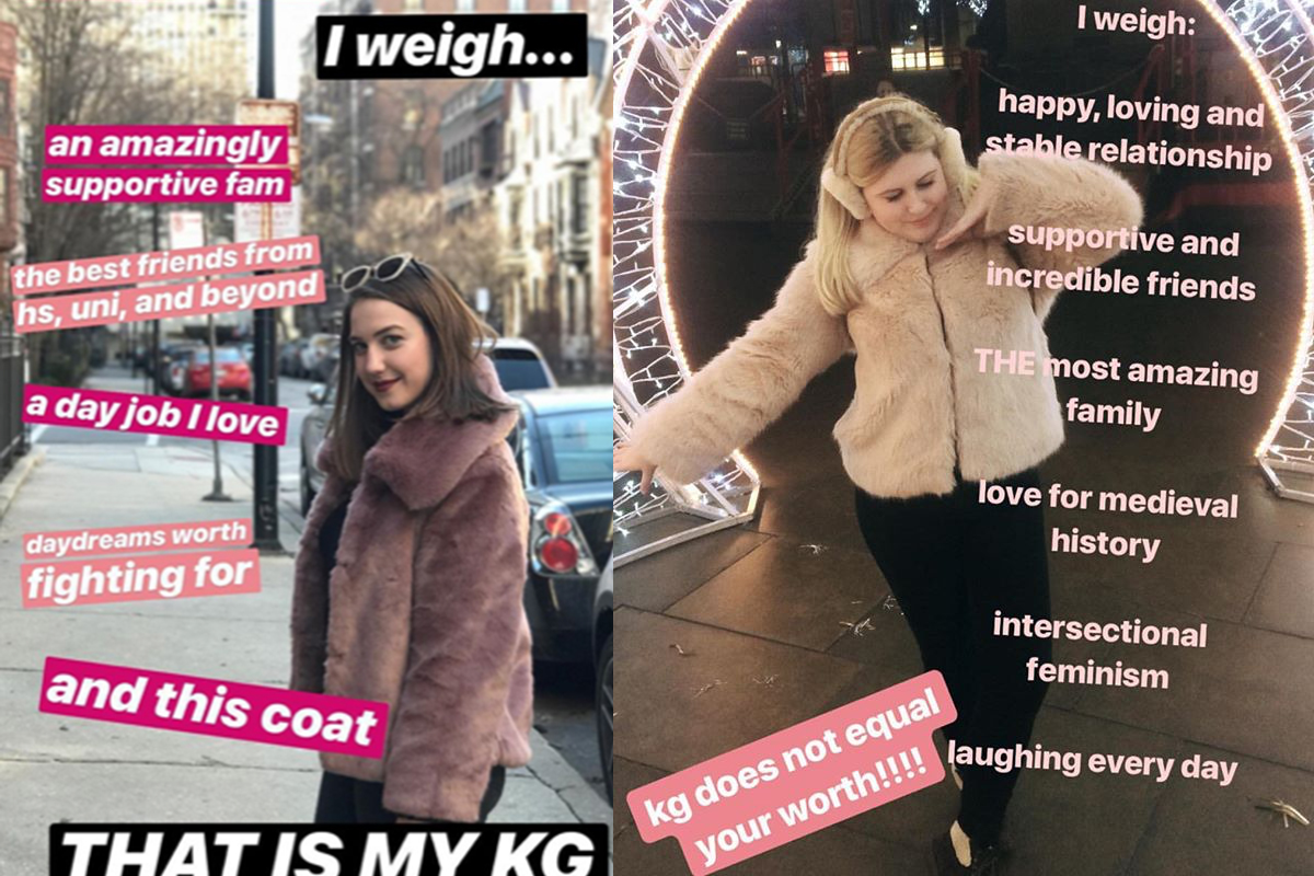 People are sharing a self-love themed spin on what they 'weigh' and it's brilliant
