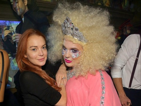 Lindsay Lohan and Tom Hardy party with pals to celebrate The Box's birthday